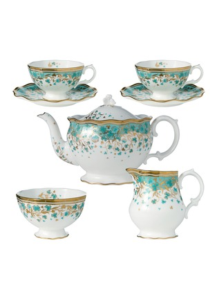Main View - Click To Enlarge - FORTNUM & MASON - Cloverleaf tea set for two