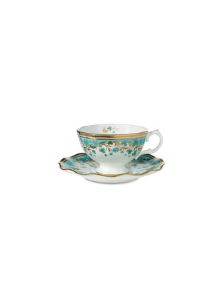 Main View - Click To Enlarge - FORTNUM & MASON - Cloverleaf Tea Cup With A Saucer