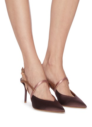 Figure View - Click To Enlarge - MALONE SOULIERS - 'Zadie' strappy satin pumps