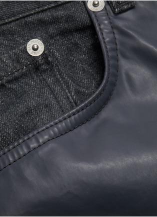 - DRIES VAN NOTEN - Rubber panel jeans