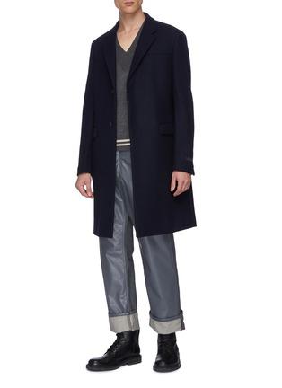 Figure View - Click To Enlarge - DRIES VAN NOTEN - Rubber panel jeans
