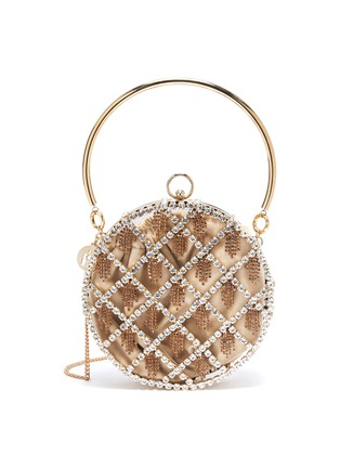 Main View - Click To Enlarge - ROSANTICA - 'Gauthier' glass crystal caged circle bag