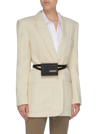 Figure View - Click To Enlarge - JACQUEMUS - 'La ceinture Bello' mini belt bag
