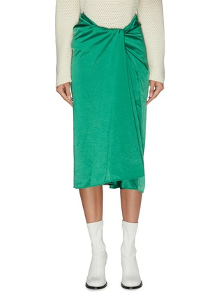 Main View - Click To Enlarge - SAMUEL GUÌ YANG - Knot front skirt