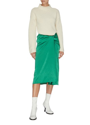 Figure View - Click To Enlarge - SAMUEL GUÌ YANG - Knot front skirt