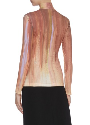 Back View - Click To Enlarge - SAMUEL GUÌ YANG - Gradient print mock neck top