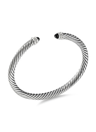 Main View - Click To Enlarge - DAVID YURMAN - 'Cable Classics' diamond onyx silver cuff