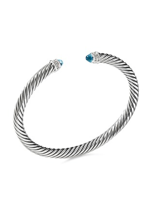 Main View - Click To Enlarge - DAVID YURMAN - Cable Classics' diamond topaz silver cuff