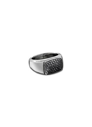 Main View - Click To Enlarge - DAVID YURMAN - Diamond pavé silver signet ring