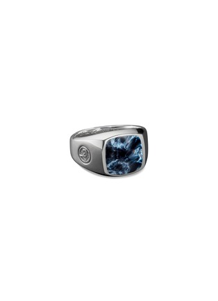 Main View - Click To Enlarge - DAVID YURMAN - 'Exotic Stone' pietersite silver signet ring