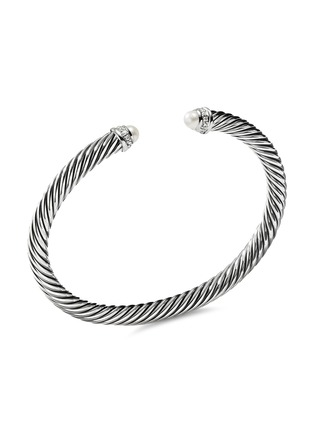 Main View - Click To Enlarge - DAVID YURMAN - 'Cable Classics' diamond freshwater pearl silver cuff