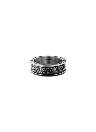 Main View - Click To Enlarge - DAVID YURMAN - 'Streamline Pavé' diamond silver ring