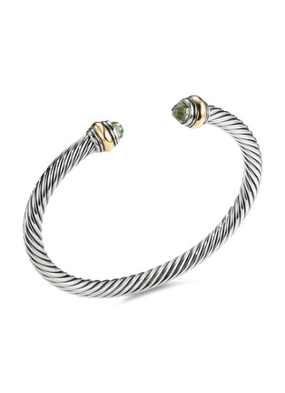 Main View - Click To Enlarge - DAVID YURMAN - Cable Classics' prasiolite silver and 14k yellow gold cuff