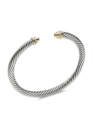 Main View - Click To Enlarge - DAVID YURMAN - 'Cable Classics' diamond silver and 18k yellow gold cuff