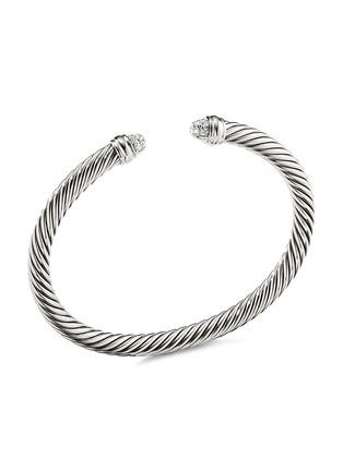 Main View - Click To Enlarge - DAVID YURMAN - Cable Classics' diamond silver cuff