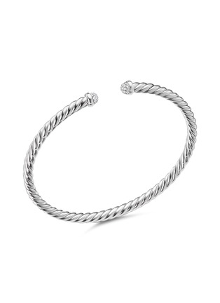 Main View - Click To Enlarge - DAVID YURMAN - 'Cable Classics' diamond 18k white gold cuff