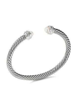 Main View - Click To Enlarge - DAVID YURMAN - 'Cable Classics' diamond freshwater pearl silver cuff