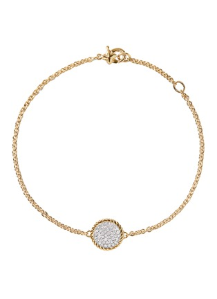 Main View - Click To Enlarge - DAVID YURMAN - Cable Collectibles' diamond 18k yellow gold charm bracelet