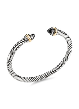 Main View - Click To Enlarge - DAVID YURMAN - Cable Classics' onyx silver and 14k yellow gold cuff