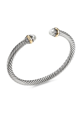 Main View - Click To Enlarge - DAVID YURMAN - Cable Classics' freshwater pearl silver and 14k yellow gold cuff
