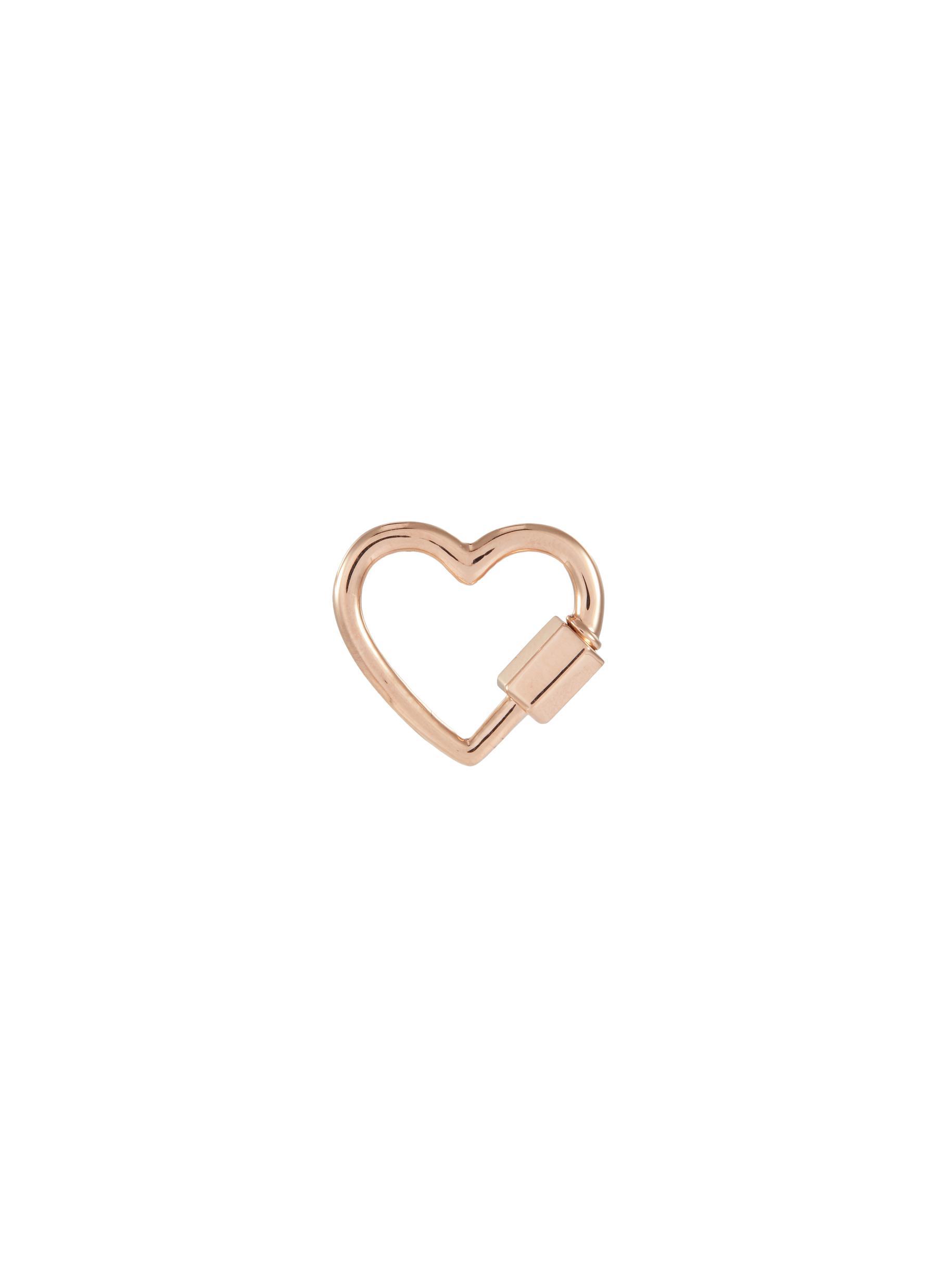 'Heart' 14k rose gold baby lock