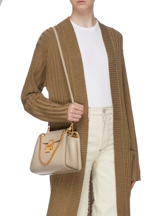 Figure View - Click To Enlarge - CHLOÉ - 'Annie' chain flap leather bag