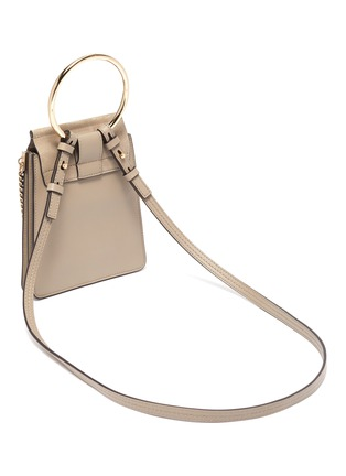 Detail View - Click To Enlarge - CHLOÉ - 'Faye' suede flap leather bracelet bag