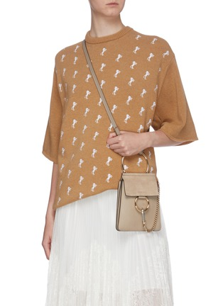 Figure View - Click To Enlarge - CHLOÉ - 'Faye' suede flap leather bracelet bag