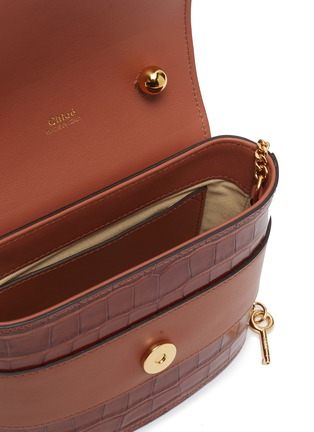 Detail View - Click To Enlarge - CHLOÉ - Abylock' croc embossed leather handle bag