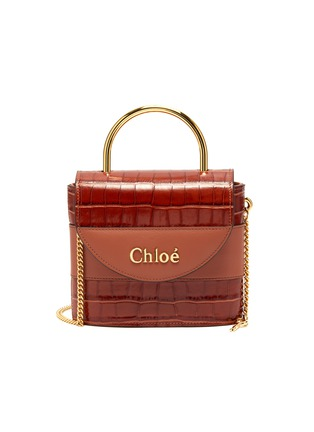 Main View - Click To Enlarge - CHLOÉ - Abylock' croc embossed leather handle bag