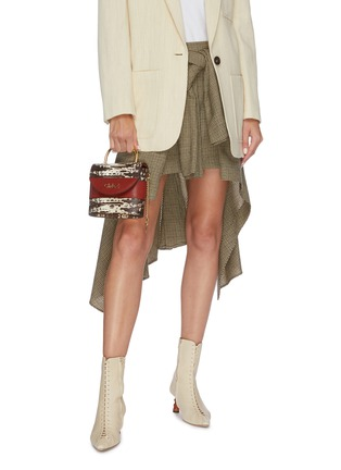 Figure View - Click To Enlarge - CHLOÉ - 'Abylock' lizard embossed leather handle bag
