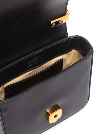 Detail View - Click To Enlarge - CHLOÉ - 'Chloé C' mini leather top handle bag