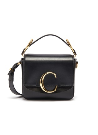 Main View - Click To Enlarge - CHLOÉ - 'Chloé C' mini leather top handle bag