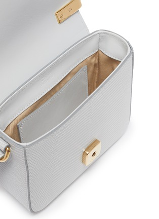 Detail View - Click To Enlarge - CHLOÉ - 'Chloé C' mini lizard embossed leather top handle bag