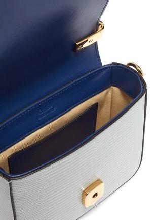 Detail View - Click To Enlarge - CHLOÉ - 'Chloé C' colourblock mini croc lizard embossed leather bag