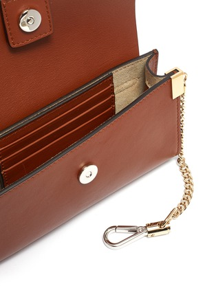 Detail View - Click To Enlarge - CHLOÉ - 'Faye' suede flap leather chain wallet