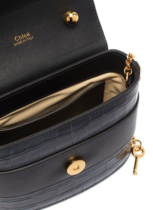 Detail View - Click To Enlarge - CHLOÉ - 'Abylock' croc embossed leather handle bag