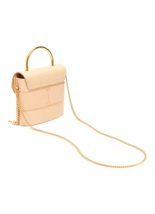 Detail View - Click To Enlarge - CHLOÉ - 'Abylock' lizard embossed leather handle bag