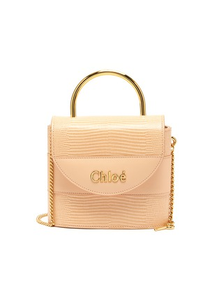Main View - Click To Enlarge - CHLOÉ - 'Abylock' lizard embossed leather handle bag