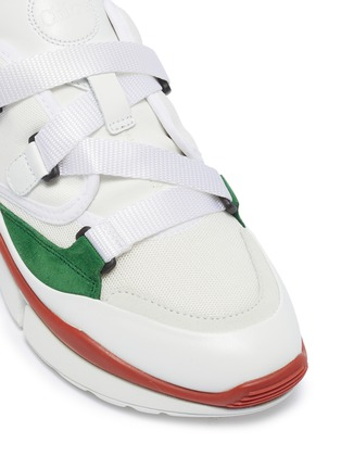 Detail View - Click To Enlarge - CHLOÉ - 'Sonnie' chunky outsole low top patchwork sneakers