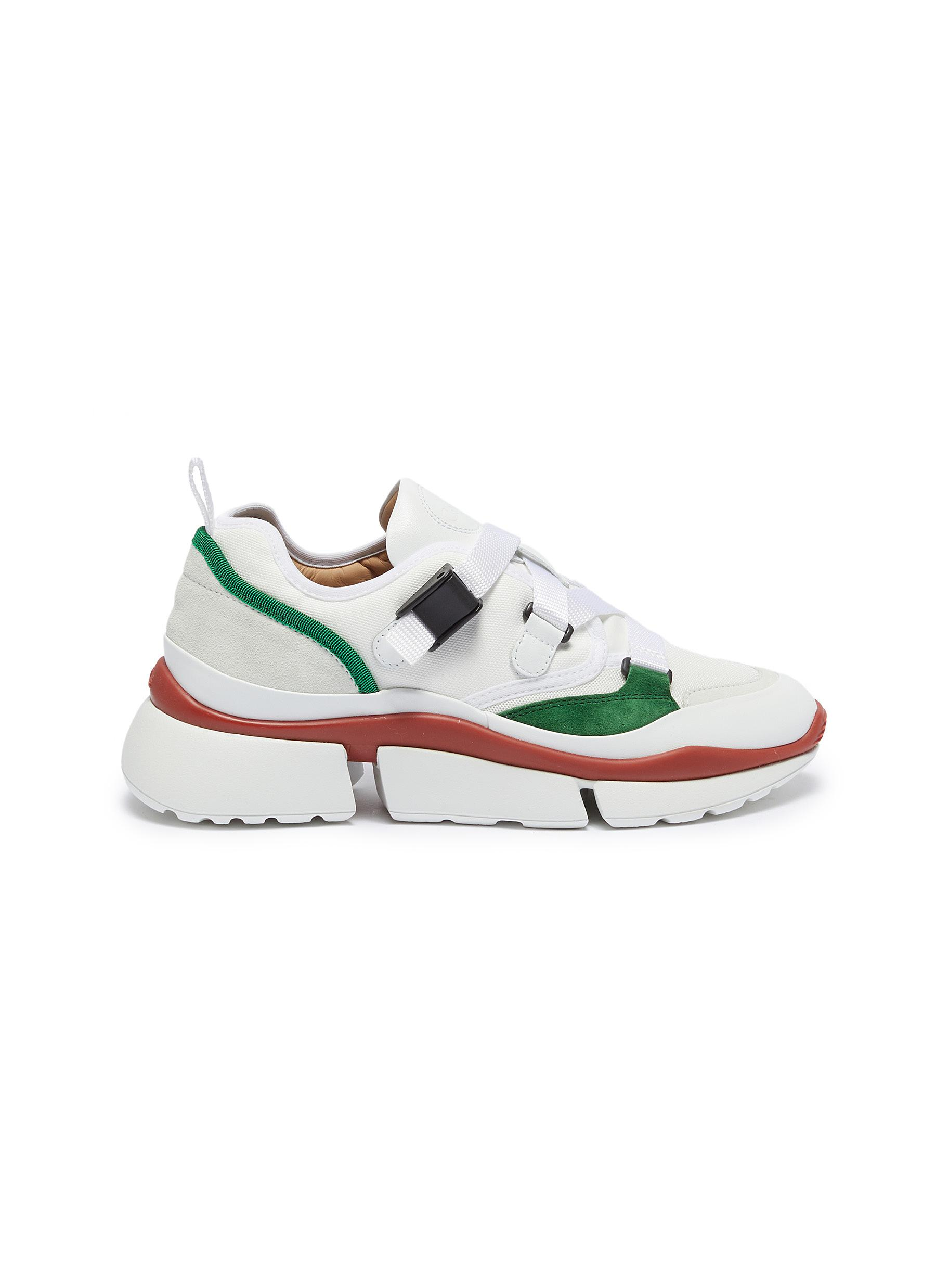 Chloé Sneakers Sonnie chunky outsole low top patchwork sneakers