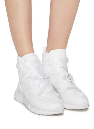 Sonnie' chunky outsole high top leather