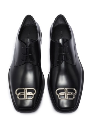 Detail View - Click To Enlarge - BALENCIAGA - 'Jive' 'BB' logo embellished derby shoes