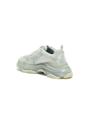 - BALENCIAGA - 'Triple S Clear Sole' chunky mesh sneakers