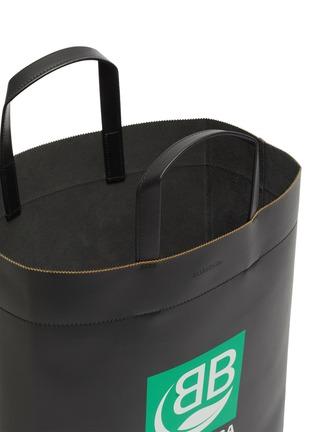 Detail View - Click To Enlarge - BALENCIAGA - Logo print medium market tote bag