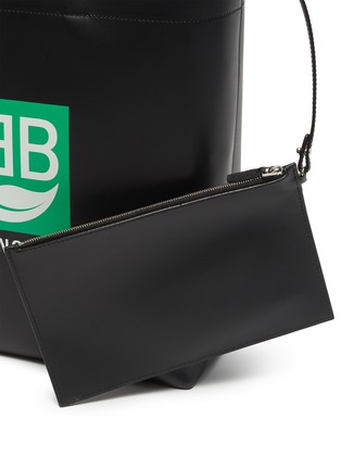 - BALENCIAGA - Logo print medium market tote bag
