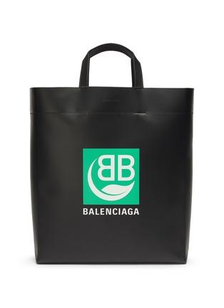 Main View - Click To Enlarge - BALENCIAGA - Logo print medium market tote bag