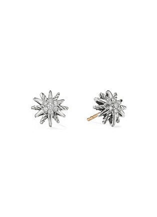 Main View - Click To Enlarge - DAVID YURMAN - 'Starburst' diamond silver stud earrings