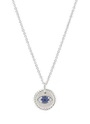 Main View - Click To Enlarge - DAVID YURMAN - Diamond sapphire evil eye pendant necklace