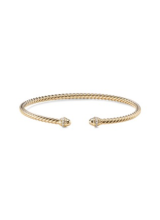 Main View - Click To Enlarge - DAVID YURMAN - 'Cable Spira' diamond 18k yellow gold cuff
